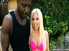 Naughty blonde takes huge BBC