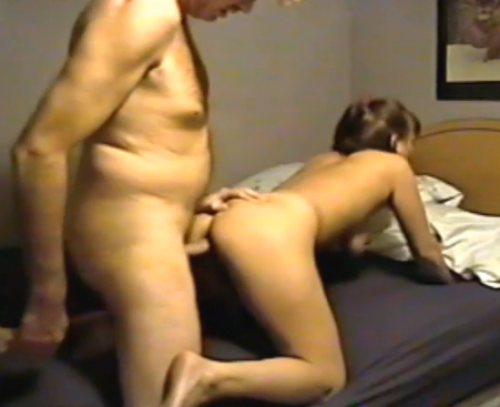 Veronica rubs the load all over her pussy