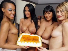 Group sex action with Anissa Kate and Jasmine Black's friends
