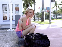 Stranded Teens - Petite teen Dakota Sky needs a lift