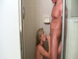 Cute blonde Girlfriend caught masturbating in the shower