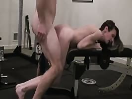 Hot MILF fucking in the GYM