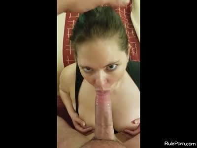 Slut takes a big facial after getting stuffed in the pussy