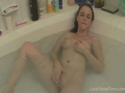 Bathtub is a nice place for the masturbation