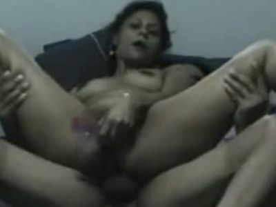 Arab girlfriend toys snatch while getting fucked in ass