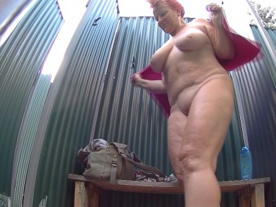 Busty Mature Spied in Public Shower