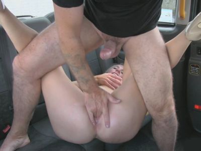 Busty amateur blonde passenger screwed by nasty driver